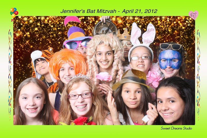 Photo Booth for Jennifer's Bat Mitzvah Party at Bolger Center NJ NYC