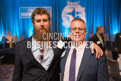 Brady Duncan with MadTree Brewing and Dave Schaff with JP Morgan Chase