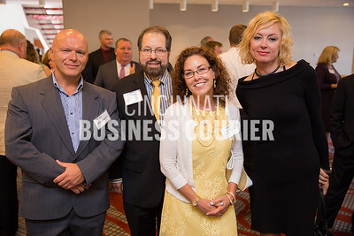 Alex Morozov with SWAN software Solutions, Cameron James and Marti Schottelkotte with Mills James Productions,  Alla Morozov with SWAN software Solutions