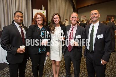 Cincinnati USA Regional Chamber -Brandon Jarrett, Tarah Cook and Veronica Ruschman with Scheller Bradford Group - Stu Scheller and David Scheller