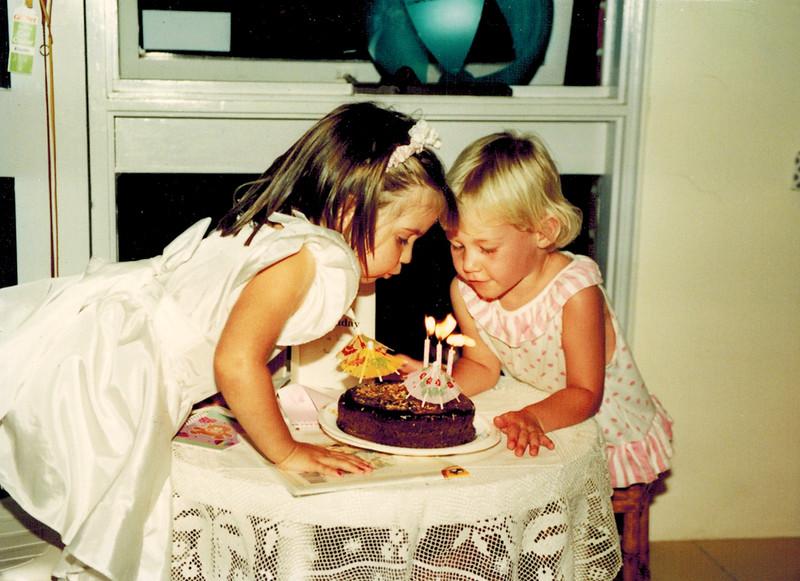 1991-03-19 Rebel Egan_Lyndall Edmonds.jpg<br /> <br /> Happy Birthday to us!