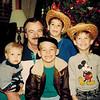 1990-12-25_Brandon Kurz_John_Matt_Ron_Scott Pitcher.jpg<br /> <br /> John with grandsons, Brandon, Matt, Ron and Scott
