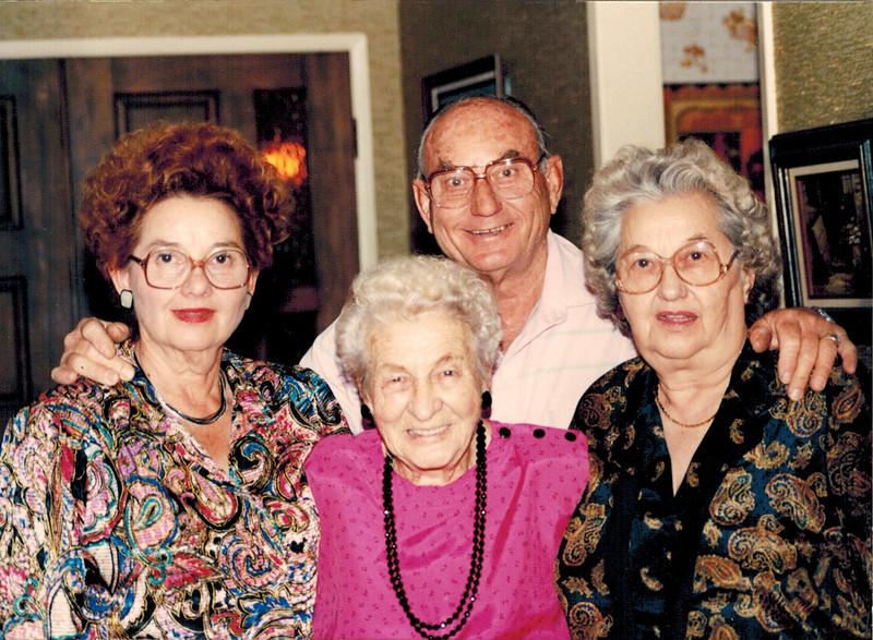 1989-11-11_Dorothy Lehigh_Kate Meyer_Don Wichner_Daisy Hoppe.jpg<br /> <br /> Celebrating Aunt Kate's 90th birthday