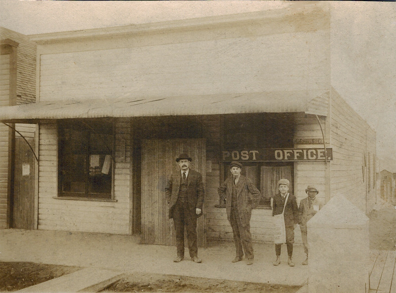 1910 Colome, SD Post Office_Alfred_Walter Wichner.jpg<br /> <br /> 2nd from left is Alfred Wichner, 3rd from left is Walter Wichner