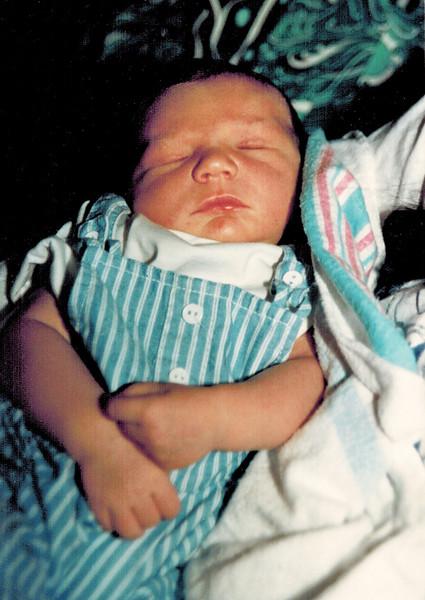 1989-05-02_Brandon Geoffry Kurz_5 days.jpg<br /> <br /> Brandon Kurz 5 days old