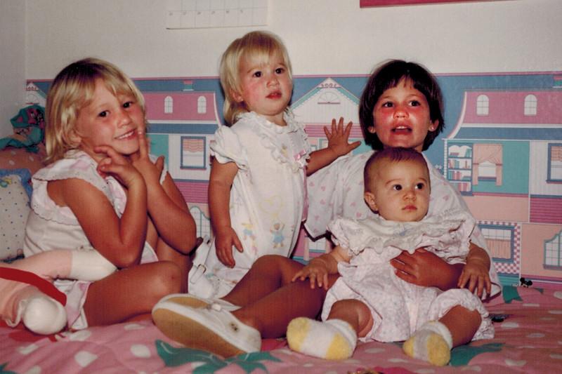 1992-07-04_Lyndall_Kelsey_Lindsey_Katherine.jpg<br /> <br /> Cousin Love!