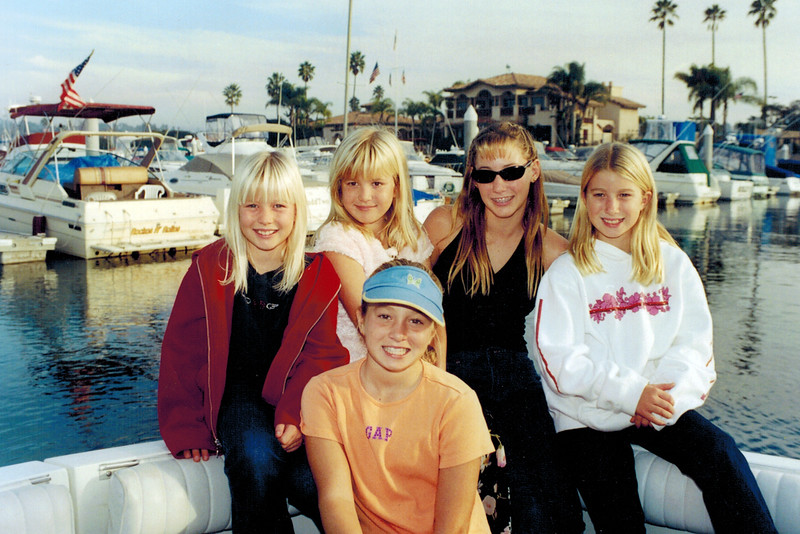 2001-11-18_Marian_Kimmie_Lyndall_Kelsey_Katherine.JPG<br /> <br /> On board Keith's new boat, the Lucky Penny