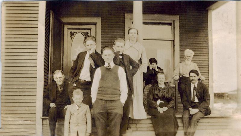 1915 Heinie_Willie_Walter_Otillie Wichner.jpg<br /> <br /> Left:  Heinie, Willie Wichner, 4th from left Walter Wichner, Sitting front row Otillie Wichner