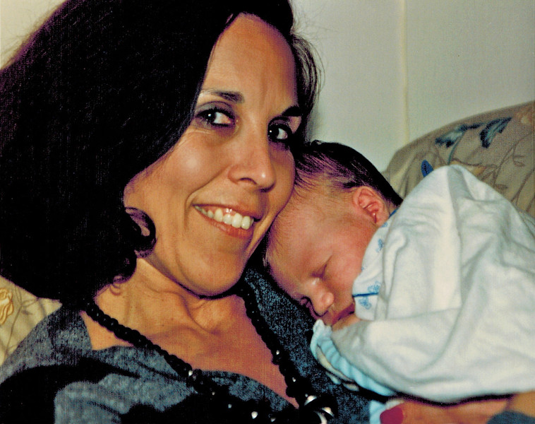 1989-05-02_Dolores Pitcher_Brandon Kurz.jpg<br /> <br /> Grandma Dolores Pitcher loving new grandson, Brandon Kurz