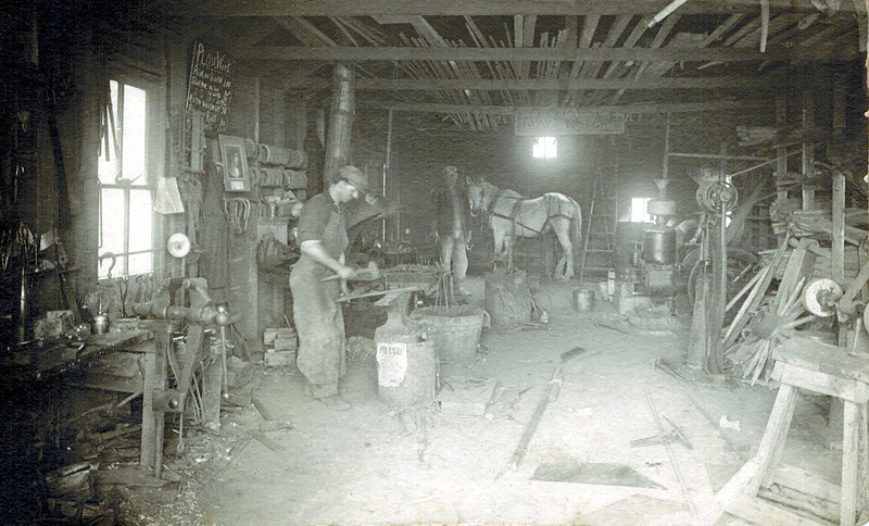 1903 Emil Henry Wichner's Blacksmith Shop.jpg<br /> <br /> Uncle Heinie's Blacksmith Shop