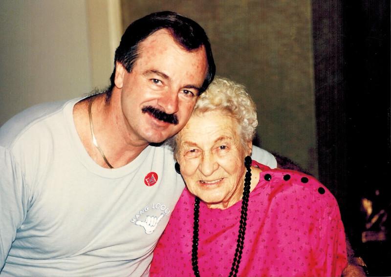 1989-11-11_John Pitcher 50_Kate Meyer 90.jpg<br /> <br /> Celebrating John's 50th birthday and Aunt Kate's 90th