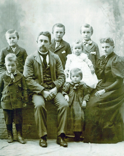 1898_Herman_Bill_Emil_Alfred_Charles_Lydia_Otillie_Elmer Wichner.JPG<br /> <br /> Otillie Bertha Zielke married Charles Ludwig Wichner and they were parents to William, Emil Henry, Herman, Alfred, Elmer, Ernest, Lydia, Walter Wichner.