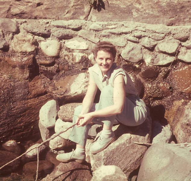1952-10 Joan fishing
