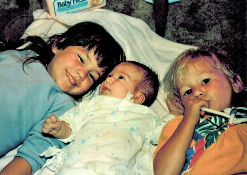 1990-10-21_Lindsey 4-1/2_Kelsey 1 month_Lyndall 2-1/2.jpg<br /> <br /> Cousin Love!