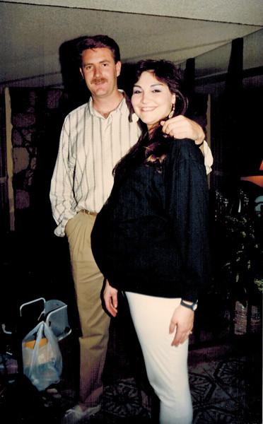 1989-02-25_Paul_Pam Kurz.jpg<br /> <br /> Pam 7-1/2 months pregnant with Brandon