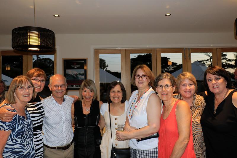 2019-03-01_360_Lucille_Robyn S_Robert_Kathy_Luisa_Brenda_Robyn_Diane_Helen.JPG<br /> <br /> Contiki GE-26 40 year reunion in Melbourne - Night One