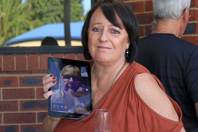 2019-03-02_392_Helen Barnes Face Timing with Elly.JPG<br /> <br /> Contiki GE-26 40 year reunion in Melbourne - Day Two