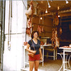 1979-09-15_Brenda Weston_Athens.JPG<br /> <br /> Enjoying the sights and smells of a fresh meat market in Athens
