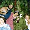 """1979-09-07_Fancy dress_Rome.JPG<br /> Fancy dress party in Rome - Robyn Boyne, Alphonse Nairn, Sue Iveson, Wayne """"The Beak"""" Martin, Diane Wichner"""
