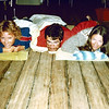 1979-09-16_Mykonos Ferry.JPG<br /> Diane Wichner, Jeff Sewell, Kathy Booth<br /> using a bread roll as a pillow - sleeping on the deck on the ferry from Athens to Mykonos