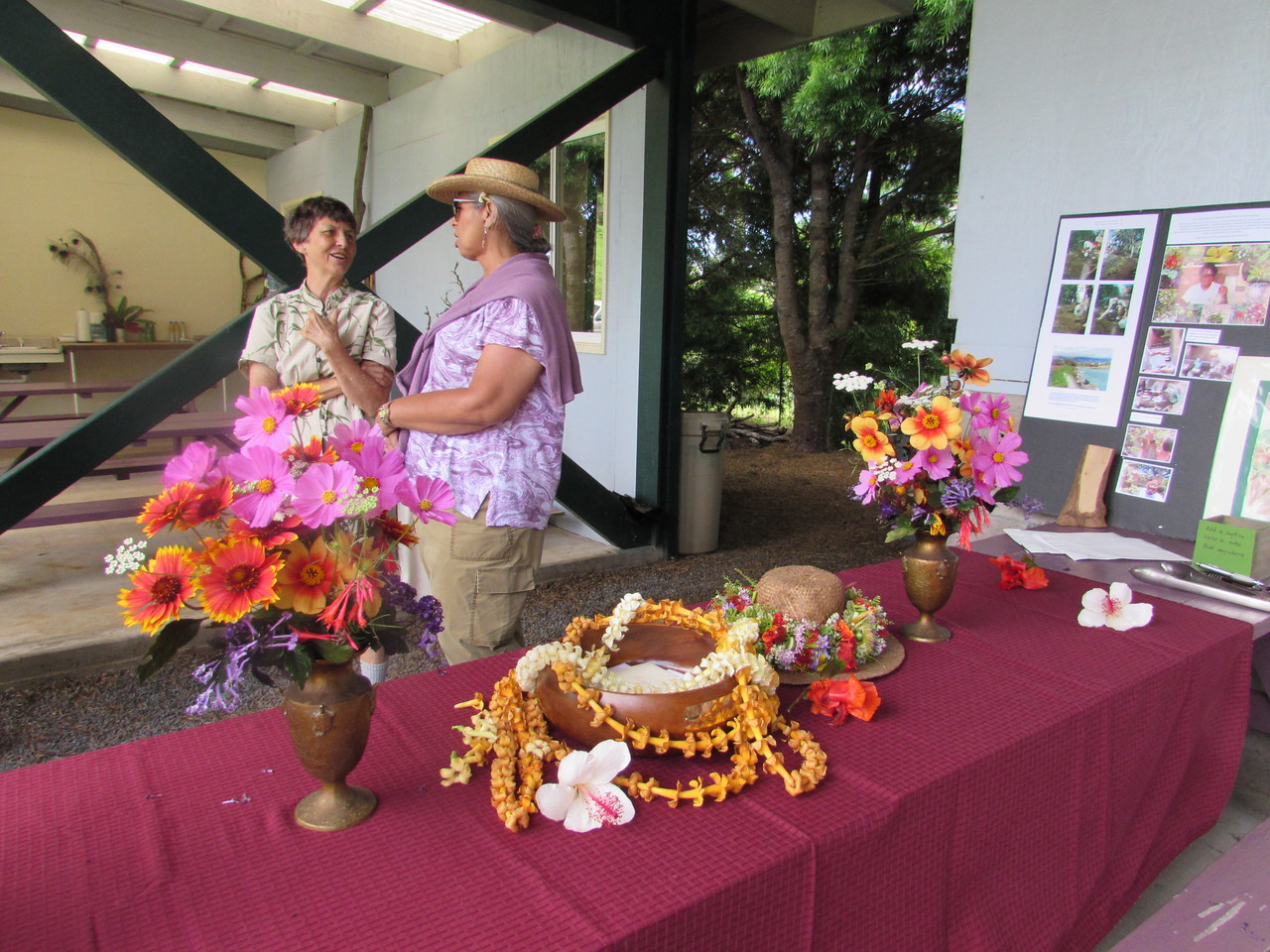 Lei and hat lei by Doreen Hobdy