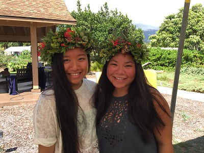 Spectacular lei - unfortunately we ran out of flowers early (Photo by Shannon Paapanen)