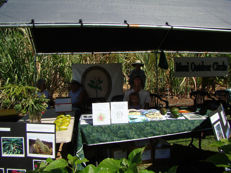 The booth at opening time. Note the kou NHPS was giving away on behalf of MNBG in the foreground.