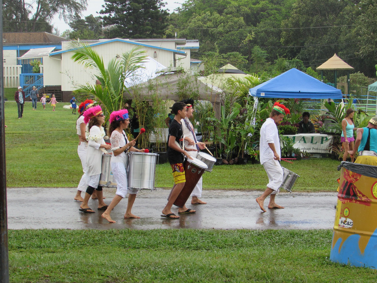 Opening ceremony - in the rain. Fortunately, it stopped after a bit.