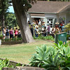People gathered for a trees tour by arborist Ernie Rezents