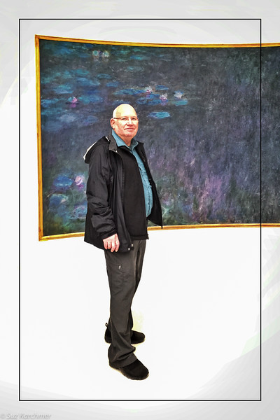 "Suz Karchmer, ""Michael Karchmer (by the Monet at the L'Orangerie Museum), iPhone 6+"