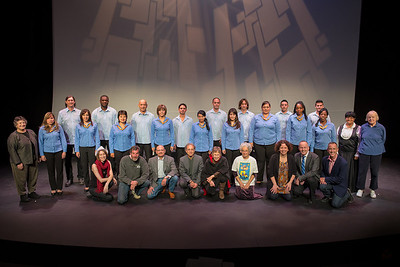 Coro de Entrevoces, plus volunteers and staff of the Wellfleet Harbor Actors Theater (© 2012 by Michael and Suz Karchmer)
