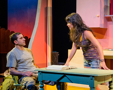 """From W.H.A.T.'s production of  """"References to Salvador Dali Make Me Hot"""" by Jose Rivera (directed by Dan Lombardo) [photo credit: Michael and Suz Karchmer]"""