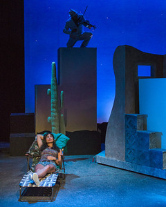 "From W.H.A.T.'s production of  ""References to Salvador Dali Make Me Hot"" by Jose Rivera (directed by Dan Lombardo) [photo credit: Michael and Suz Karchmer]"