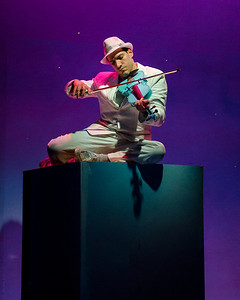 "Robert Najarian as the Moon in ""References to Salvador Dali Make Me Hot."" Wellfleet Actors Harbor Theater, May 2012. [Photo by Michael Karchmer]"