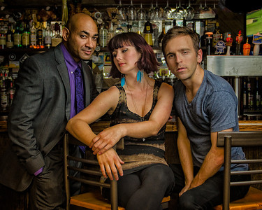 "Andrew Guilarte, Crystal Arnette,  and Alex Herrald in ""The Consequences,"" Wellfleet Harbor Actors Theater, June, 2012 [Photo Credit: Michael and Suz Karchmer]"