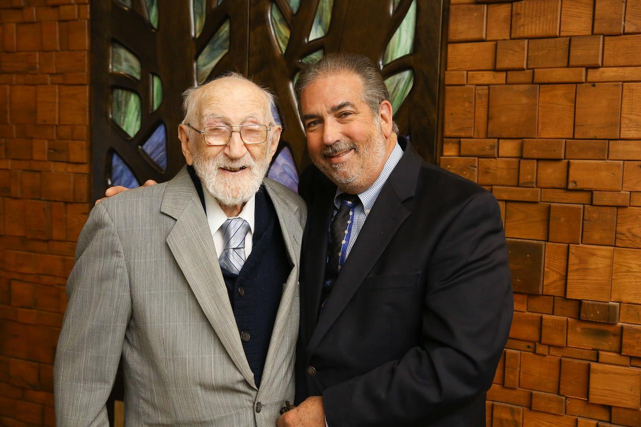 CTJ Rabbi Emeritus Marvin Bornstein and Mark Hyman