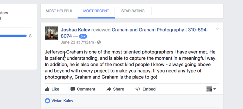Rabbi Kalev reviews Graham and Graham Photography