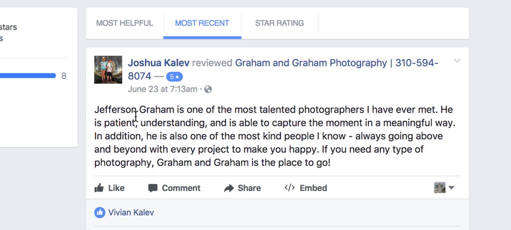 Rabbi Kalev reviews Graham and Graham Photography