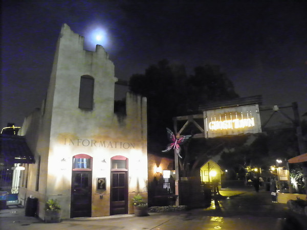 "Arriving for the 61st Annual Knott's Berry Farm (2013) Easter Sunrise Service at 6:00 a.m.  You'd think that just once, ""Ghost Town"" could be ""Holy Ghost Town"" for 2 hours...just sayin'"