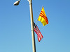 Yes, the flags are flying at the same level