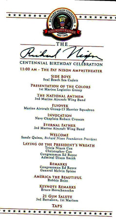 Richard Nixon's 100th Birthday Celebration