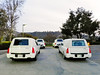 Four Hearses waiting for the honored deceased