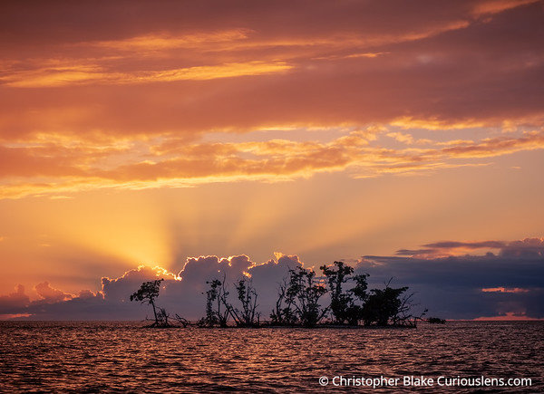 Sunset Over Water - Everglades