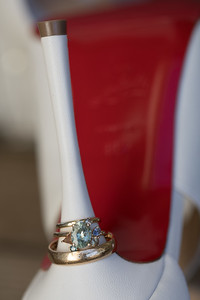 "Haley's ""red bottoms"" and her custom designed engagement ring."