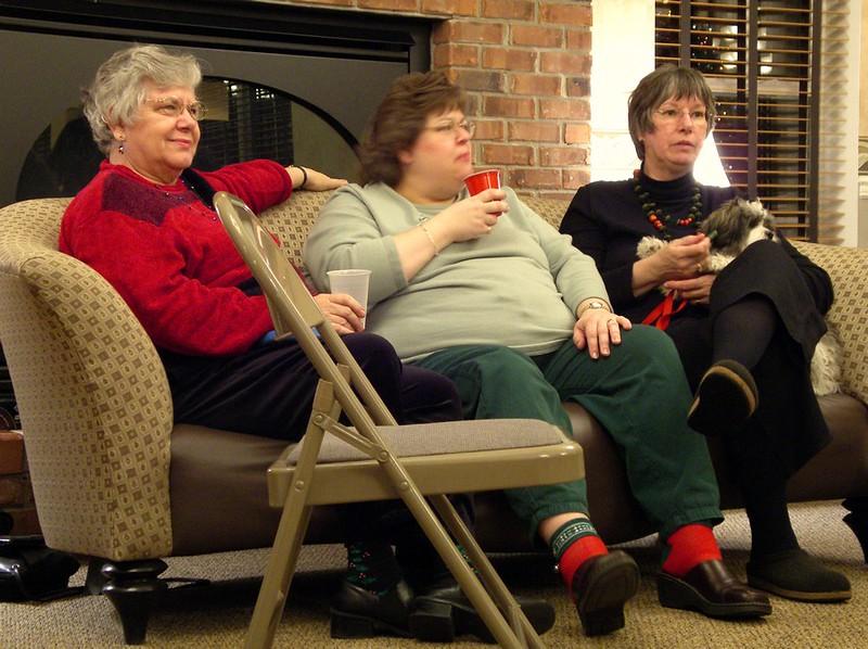 Dottie, Margie, Aunt Lou, and Charlie-dog!