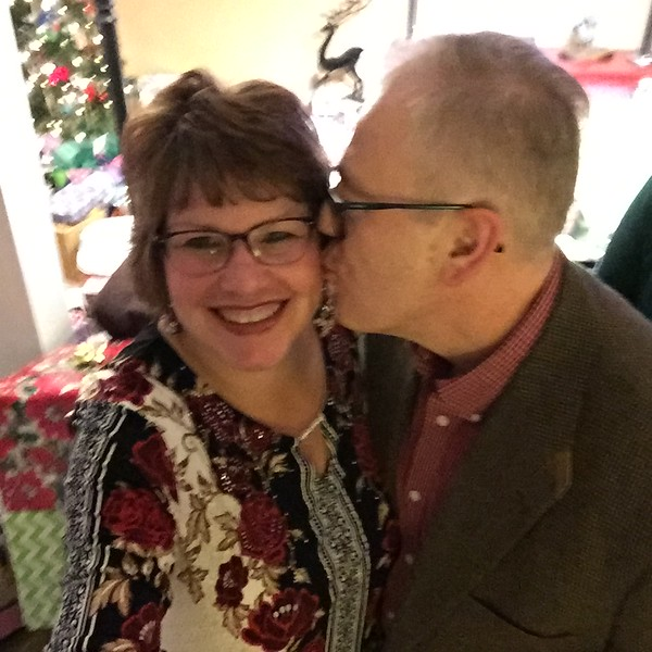 Fran and John -- mistletoe is somewhere around