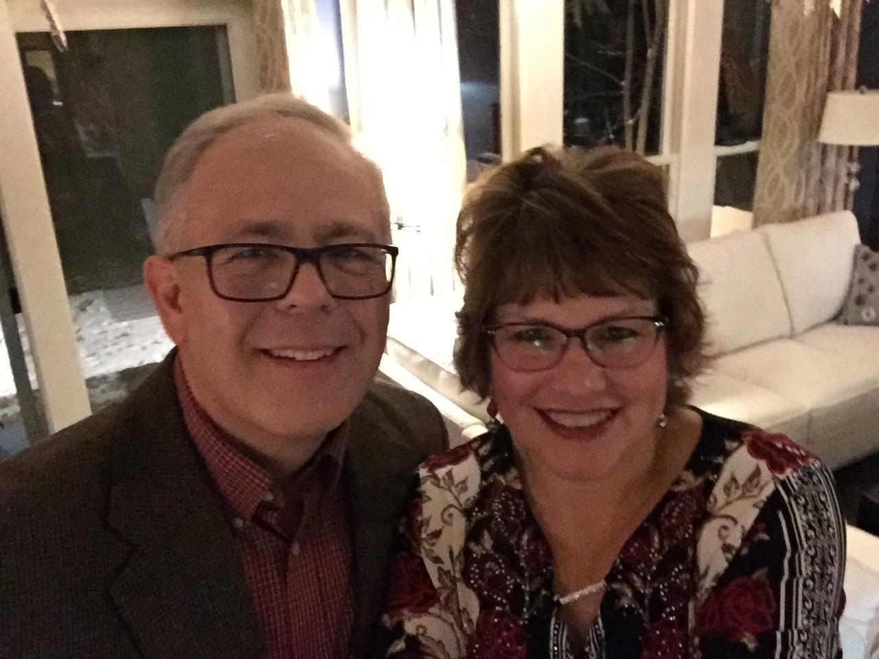 John and Fran -- enjoying Christmas Eve!