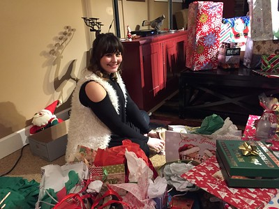 Elizabeth waiting for the presents to be opened!