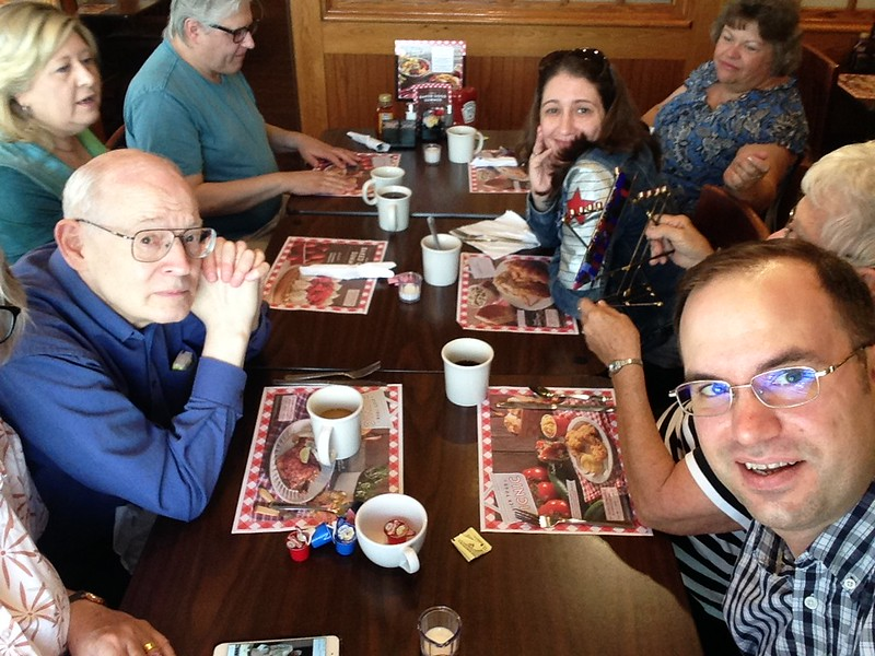 Breakfast at Bob Evans, the morning following Allison and Michael's wedding.