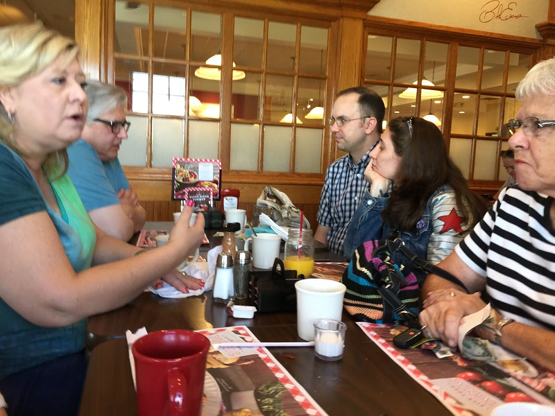 Breakfast at Bob Evans, the morning after Allison and Michael's wedding.